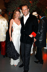SVEN & ZOE LEY he is heir to the Escada fashion empire at Andy & Patti Wong's Chinese New Year party to celebrate the year of the Rooster held at the Great Eastern Hotel, Liverpool Street, London on 29th January 2005.  Guests were invited to dress in 1920's Shanghai fashion.<br /><br />NON EXCLUSIVE - WORLD RIGHTS