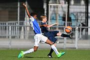 08.04.17; Zuerich; Fussball FCZ Academy - Grasshopper Club - Zuerich FE14 Oberland; <br /> Khalo Gamel (GC) Buerge Luca (Zuerich) <br /> (Andy Mueller/freshfocus)