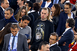 May 2, 2018 - Rome, Lazio, Italy - AS Roma v FC Liverpool - Champions League semi-final second leg.Rick Karsdorp of Roma injured in the stands at Olimpico Stadium in Rome, Italy on May 02, 2018. (Credit Image: © Matteo Ciambelli/NurPhoto via ZUMA Press)