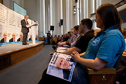 © licensed to London News Pictures. London, UK 10/04/2012. Boris Johnson supporters are listening his 9 Point Plan for Greater London as he launches his campaign to be Mayor of London again, at Duke Street Church in Richmond, this noon (10/04/12). Photo credit: Tolga Akmen/LNP
