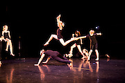Dance Wisconsin rehearses their New Works performance at Mitby Theater at Madison College in Madison, Wisconsin on October 8, 2010. Jo Jean Retrum is the the Artistic Director of Dance Wisconsin.