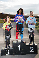 LONDON UK 29TH JULY 2016:  BMX Presentations. Prudential RideLondon BMX Grand Prix at the London Velo Park. Prudential RideLondon in London 29th July 2016<br /> <br /> Photo: Bob Martin/Silverhub for Prudential RideLondon<br /> <br /> Prudential RideLondon is the world&rsquo;s greatest festival of cycling, involving 95,000+ cyclists &ndash; from Olympic champions to a free family fun ride - riding in events over closed roads in London and Surrey over the weekend of 29th to 31st July 2016. <br /> <br /> See www.PrudentialRideLondon.co.uk for more.<br /> <br /> For further information: media@londonmarathonevents.co.uk