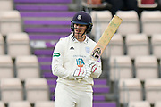 Jimmy Adams of Hampshire batting during the second day of play in the Specsavers County Champ Div 1 match between Hampshire County Cricket Club and Essex County Cricket Club at the Ageas Bowl, Southampton, United Kingdom on 28 April 2018. Picture by Graham Hunt.