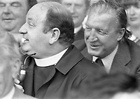 Bishop Casey of Galway and Charlie Haughey at All-Ireland final. (Part of the Independent Newspapers/NLI Collection)