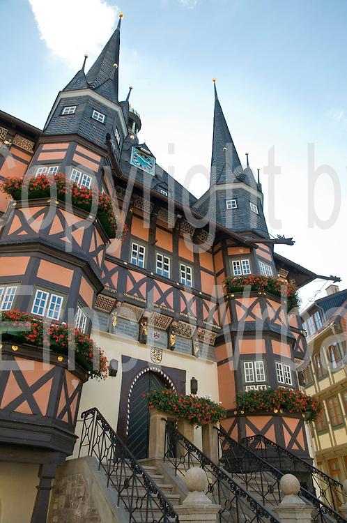 Rathaus, Marktplatz, Wernigerode, Harz, Sachsen-Anhalt, Deutschland | guild hall, Wernigerode, Harz, Saxony-Anhalt, Germany