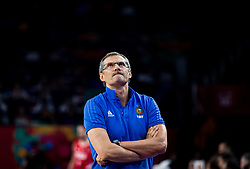 Sergey Bazarevich, head coach of Russia during basketball match between National Teams of Russia and Serbia at Day 16 in Semifinal of the FIBA EuroBasket 2017 at Sinan Erdem Dome in Istanbul, Turkey on September 15, 2017. Photo by Vid Ponikvar / Sportida