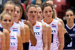 17-05-2016 JAP: OKT Thailand - Nederland, Tokio<br /> Nederland verslaat Thailand met klinkende cijfers 3-0 en is weer op koers voor Rio / Line up met Lonneke Sloetjes #10