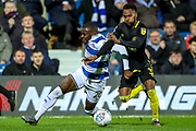 Brentford defender Rico Henry (3) tackles Queens Park Rangers midfielder Bright Osayi-Samuel (20) during the EFL Sky Bet Championship match between Queens Park Rangers and Brentford at the Kiyan Prince Foundation Stadium, London, England on 28 October 2019.