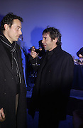 Rufus Sewell and Robert Delamere. The Almeida Theatre Charity Christmas Gala, to raise funds for the theatre, at the Victoria Miro Gallery, London.  1 December  2005. ONE TIME USE ONLY - DO NOT ARCHIVE  © Copyright Photograph by Dafydd Jones 66 Stockwell Park Rd. London SW9 0DA Tel 020 7733 0108 www.dafjones.com