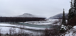 The Klehini River in southeast Alaska near the U.S - Canadian border. iPhone panorama photo.