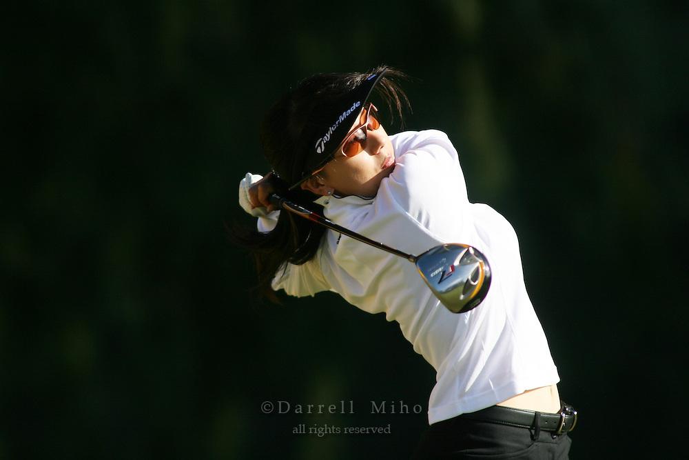 February 16, 2006 - Kahuku, HI - Riko Higashio tees off during Round 1 of the LPGA SBS Open at Turtle Bay Resort...Photo: Darrell Miho