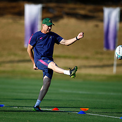 SHIZUOKA, JAPAN - SEPTEMBER 30: Rassie Erasmus (Head Coach) of South Africa during the South African national rugby team training session at Nexta Training Field on September 30, 2019 in Shizuoka, Japan. (Photo by Steve Haag/Gallo Images)