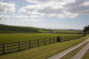 View from the garden, looking towards the sea, Pickwell Manor, Georgeham, North Devon, UK.<br /> CREDIT: Vanessa Berberian for The Wall Street Journal<br /> HOUSESHARE