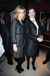 Left to right, EMILIA FOX and JOSEPHINE HART (LADY SAATCHI)  at the Costa Book Awards 2009 held at Quaglino's, 16 Bury Street, London SW1 on 26th January 2010.