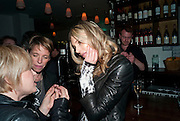 KIM HERSOV, Counter Editions 10th anniversary party. Rivington Grill. Shoreditch. London. 5 May 2010 *** Local Caption *** -DO NOT ARCHIVE-© Copyright Photograph by Dafydd Jones. 248 Clapham Rd. London SW9 0PZ. Tel 0207 820 0771. www.dafjones.com.<br /> KIM HERSOV, Counter Editions 10th anniversary party. Rivington Grill. Shoreditch. London. 5 May 2010