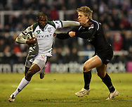 Newcastle - Sunday, February 20th, 2010: Charlie Amesbury of Newcastle Falcons and Topsy Ojo of London Irish during the Guinness Premiership match at Newcastle. (Pic by Steven Hadlow/Focus Images)