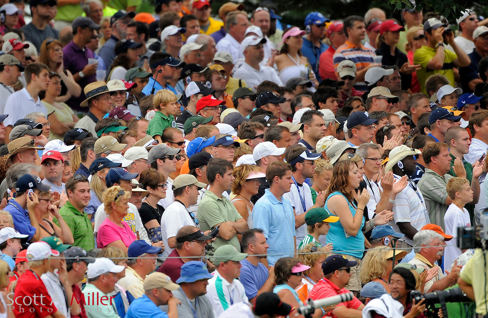 Aug 15, 2009; Chaska, MN, USA; A view of the gallery on the 8th hole during the third round of the 2009 PGA Championship at Hazeltine National Golf Club.  ©2009 Scott A. Miller