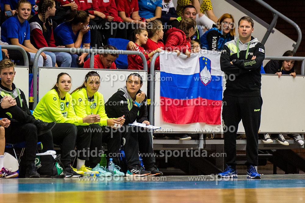Uroš Bregar head coach of Slovenia during friendly game between national teams of Slovenia and Serbia on 29th of September, Celje, Slovenija 2018