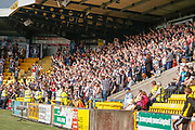 St Mirren fans leaving with all 3 points following their win during the Ladbrokes Scottish Premiership match between Livingston and St Mirren at Tony Macaroni Arena, Livingstone, Scotland on 20 April 2019.