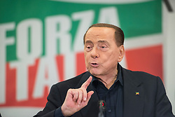 May 23, 2019, Turin, Piedmont, Italy: Silvio Berlusconi during the press conference for the electoral campaign for the presentation of the list of Forza Italia candidates for the Regional Elections of Piedmont and European Elections. In the Piedmont Region in Italy the Regional Elections of Piedmont will be held on May 26, 2019 where the new governor of the Italian region will be elected while the European Elections of 2019 will be held in the 28 Member States of the European Union between May 23 and 26, will be the renewal of Members representing EU member countries. (Credit Image: © Stefano Guidi/ZUMA Wire)