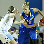 Delaware Forward Elena Delle Donne (11) with the ball in the second half of a 2013 Round Two Women's NCAA tournament game against No. 3 North Carolina Tuesday, March 26, 2013, at the Bob Carpenter Center in Newark Delaware.