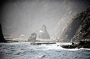 Photo shows the landing area of the main Dokdo Island, known to Japanese as Takeshima, sovereignty over which is disputed between Japan and South Korea, in the Sea of Japan on 22 June 2010..Photographer: Robert Gilhooly