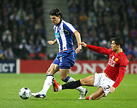 20090415: PORTO, PORTUGAL - FC Porto vs Manchester United: Champions League 2008/2009 – Quarter Finals – 2nd leg. In picture: Sapunaru and Cristiano Ronaldo. PHOTO: Manuel Azevedo/CITYFILES