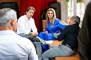 AMSTERDAM, 11-6-2020 . Andre Hazes en Monique tijdens de presentatie van zijn nieuwe videoclip  Een Doodgewone Man.