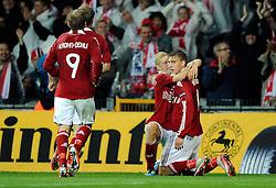 [DK=06-09-2011: Fodbold Landskamp EM Kvalifikationskamp, Danmark-Norge: Nicklas Bendtner, Danmark. scorer til 2-0.Foto: Lars Møller/Sportsagency.dk].[UK=06-09-2011: Soccer National Team EURO 2012 Qualification match, Denmark-Norway: Nicklas Bendtner, Danmark. scores to 2-0.Photo: Lars Moeller/Sportsagency.dk].