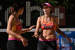 10-06-2016 DUI: Smart Major Beach Volleyball World Tour, Hamburg<br /> Fang Wang #1, Yuan Yue #2<br /> <br /> ***NETHERLANDS ONLY***