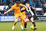Steven Lawless of Livingston & Stephen McGinn of St Mirren tangle during the Ladbrokes Scottish Premiership match between St Mirren and Livingston at the Simple Digital Arena, Paisley, Scotland on 2nd March 2019.