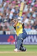 Laurie Evans during the NatWest T20 Blast semi final match between Northamptonshire County Cricket Club and Warwickshire County Cricket Club at Edgbaston, Birmingham, United Kingdom on 29 August 2015. Photo by David Vokes.