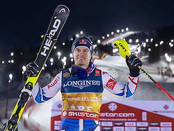 11.02.2019, Aare, SWE, FIS Weltmeisterschaften Ski Alpin, alpine Kombination, Herren, Siegerpräsentation, im Bild Alexis Pinturault (FRA, Weltmeister und Goldmedaillengewinner) // World champion and gold medalist Alexis Pinturault of France during the winner presentation of the men's alpine combination for the FIS Ski World Championships 2019. Aare, Sweden on 2019/02/11. EXPA Pictures © 2019, PhotoCredit: EXPA/ Johann Groder