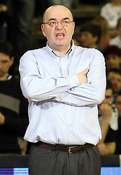Head coach of Partizan Dusko Vujosevic during second semi-final match of Basketball NLB League at Final four tournament between KK Partizan Igokea, Beograd, Serbia and Union Olimpija, Ljubljana, Slovenia, on April 25, 2008, in Arena Tivoli in Ljubljana. Match was won by Partizan 94:90. (Photo by Vid Ponikvar / Sportal Images)