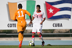 AUBAGNE, FRANCE - Tuesday, May 30, 2017: Bahrain's Jameel Sabba Husain in action during the Toulon Tournament Group B match between Bahrain and Ivory Coast at the Stade de Lattre-de-Tassigny. (Pic by Laura Malkin/Propaganda)
