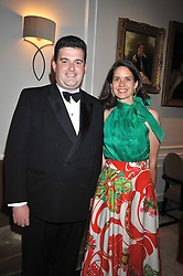 ANTHONY BAILEY and his wife PRINCESS MARIE-THERESE VON HOHENBERG OF AUSTRIA  at the London Red Cross Ball held at the Churchill Hotel, Portman Square, London on 10th June 2009.