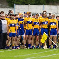Clare Team Stand for Nationa Anthem during Senior Hurling Quarter Final against Limerick
