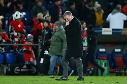 November 12, 2017 - Basel, Switzerland - FIFA World Cup Qualifiers play-off Switzerland v Northern Ireland.The disappointment of Michael O'Neill coach of Northern Ireland at St. Jakob-Park in Basel, Switzerland on November 12, 2017. (Credit Image: © Matteo Ciambelli/NurPhoto via ZUMA Press)