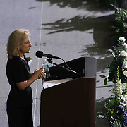 Catherine H. Thompson, Esq., gives greetings during McKean 49th commencement exercises Saturday, June 06, 2015, at The Bob Carpenter Sports Convocation Center in Newark, Delaware.