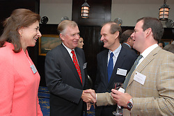 "Dan Quayle, David Boies and friends. Maurice R. ""Hank"" Greenberg Reception at 21 Club NYC 18 Sept 2007 Honoring the endowment of the David Boies Professorship of Law at Yale Law School"