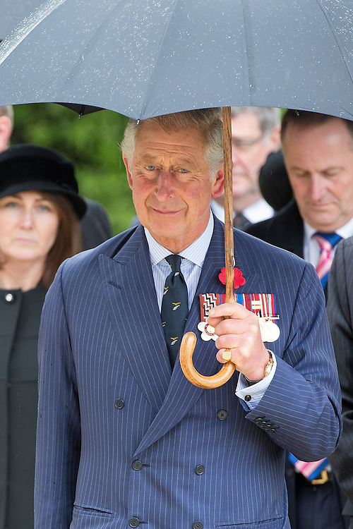 The Prince of Wales with The Duchess of Cornwall visit the National War Memorial, Wellington, New Zealand, on  Wednesday, November 04, 2015. Credit: SNPA / David Rowland