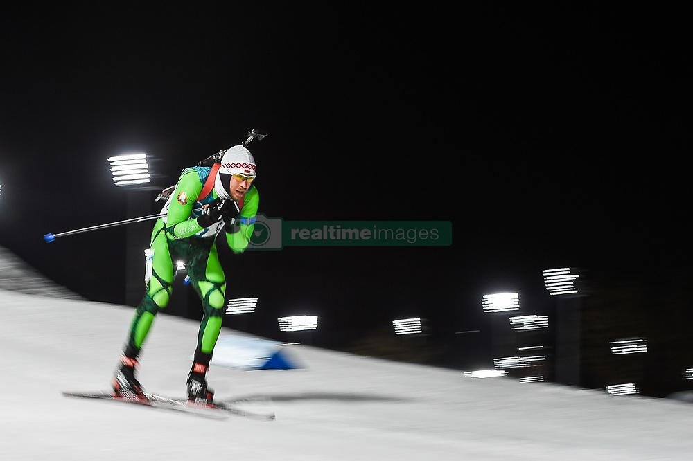 February 11, 2018 - Pyeongchang, Gangwon, South Korea - Sergey Bocharnikov ofBelarus  at Mens 10 kilometre sprint Biathlon at olympics at Alpensia biathlon stadium, Pyeongchang, South Korea on February 11, 2018. (Credit Image: © Ulrik Pedersen/NurPhoto via ZUMA Press)