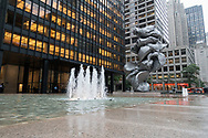 """""""Big Clay #4"""" by Urs Fisher in front of the Seagramm Building on Park Avenue."""