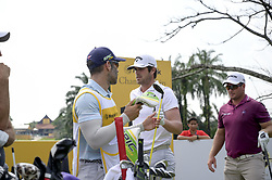 March 22, 2019 - Kuala Lumpur, Malaysia - Ryan Fox (R)of New Zealand , Nacho Elvira (C) of Spain in action on Day Two of the Maybank Championship at Saujana Golf and Country Club on March 22, 2019 in Kuala Lumpur, Malaysia  (Credit Image: © Chris Jung/NurPhoto via ZUMA Press)
