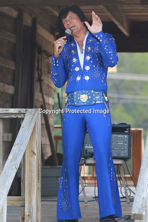 LIBBY EZELL | BUY AT PHOTOS.DJOURNAL.COM<br /> Elvis impersonator, Jack Curtis, entertains the crown at Saturday's Arc in the Park event