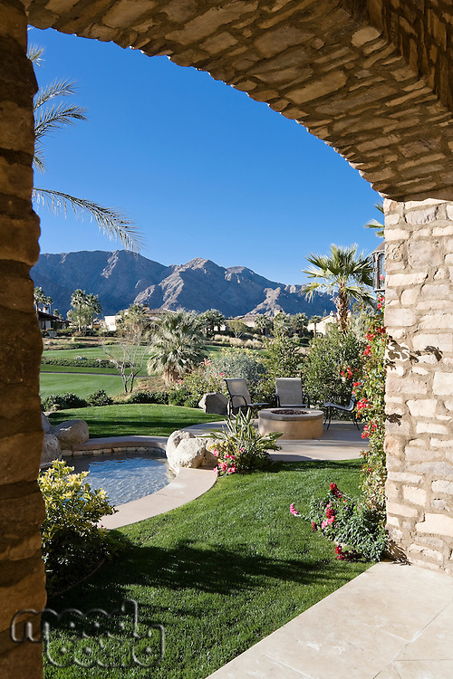View of mountains and landscape from luxury villa