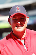 ANAHEIM, CA - JULY 28:  Mark Trumbo #44 of the Los Angeles Angels of Anaheim smiles before the game against the Tampa Bay Rays on Saturday, July 28, 2012 at Angel Stadium in Anaheim, California. The Rays won the game in a 3-0 shutout. (Photo by Paul Spinelli/MLB Photos via Getty Images) *** Local Caption *** Mark Trumbo