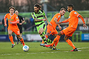 Forest Green Rovers Rob Sinclair(19) runs forward during the Vanarama National League match between Forest Green Rovers and Braintree Town at the New Lawn, Forest Green, United Kingdom on 21 January 2017. Photo by Shane Healey.
