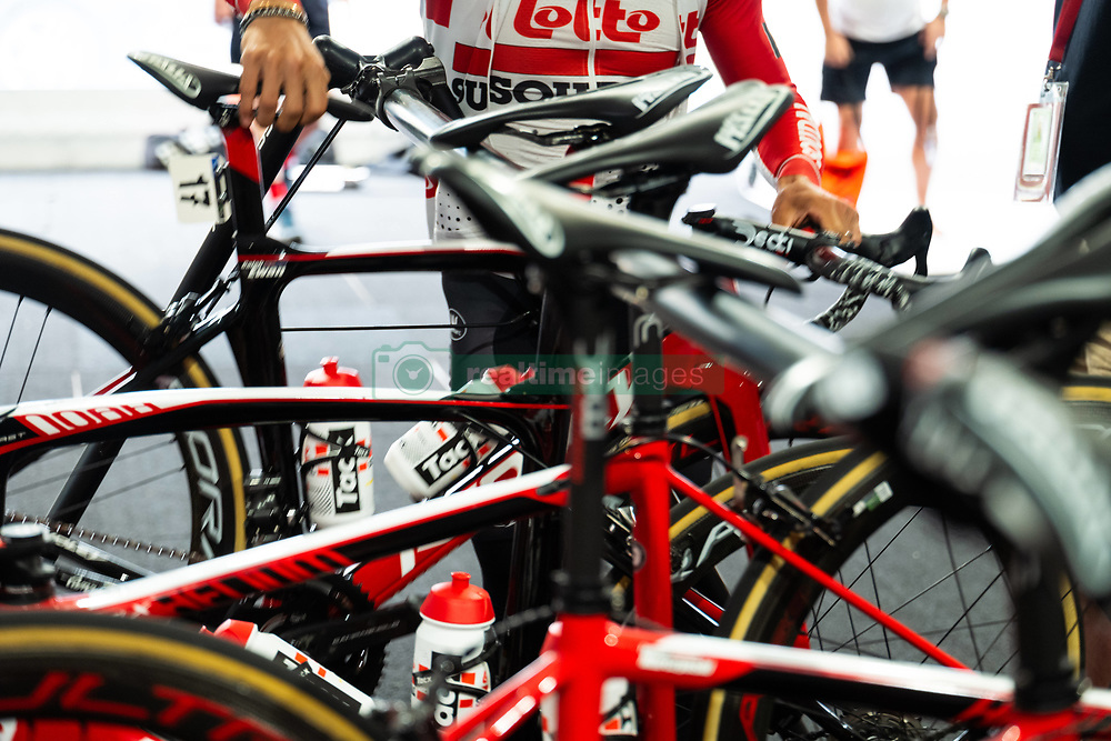 January 10, 2019 - Caleb Ewan (Lotto-Soudal) taking his bike before a training ride, Tour Down Under, Australia on the 10 of January 2019  (Credit Image: © Gary Francis/ZUMA Wire)