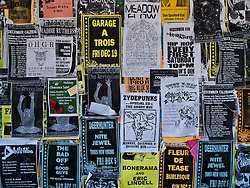 Posted gig dates for various bands